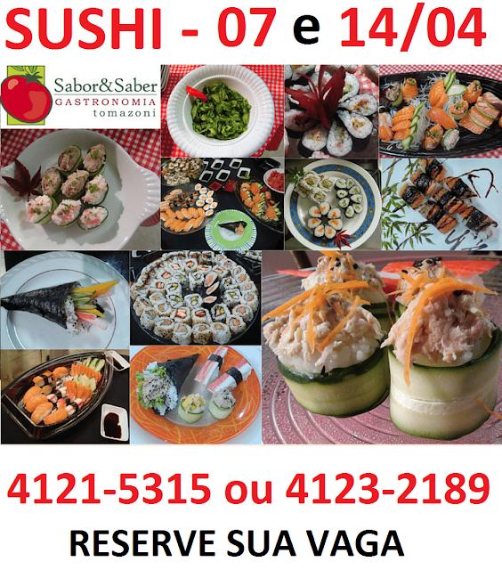Sushi com Peixe e com Legumes