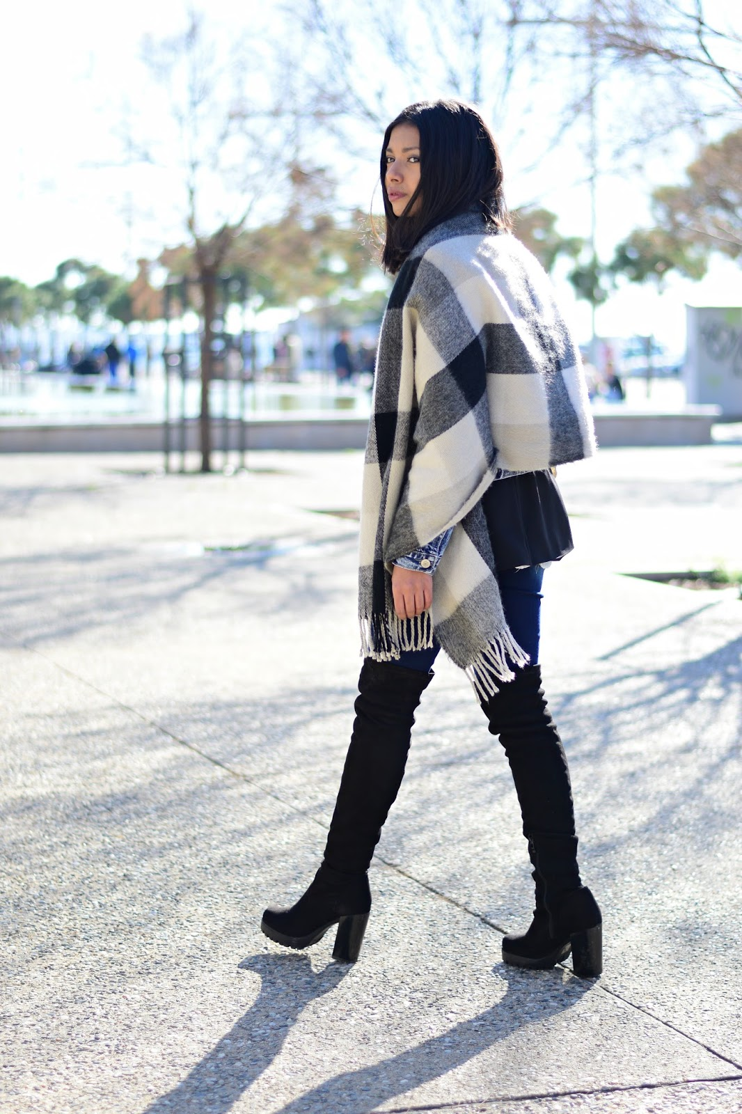 k meets style How to style your blanket scarf in Autumn