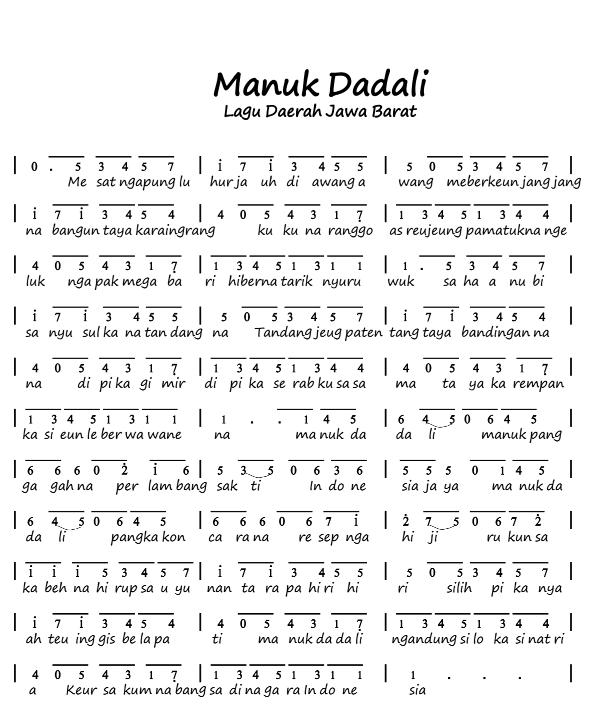 Manuk Dadali - Lagu Daerah Jawa Barat
