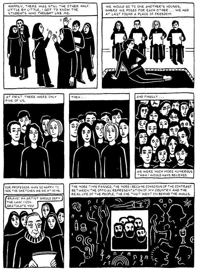 Read Chapter 16 - The Socks, page 150, from Marjane Satrapi's Persepolis 2 - The Story of a Return