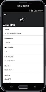 BBM Mod Blackberry V8 Theme Versi 3.0.0.18 apk