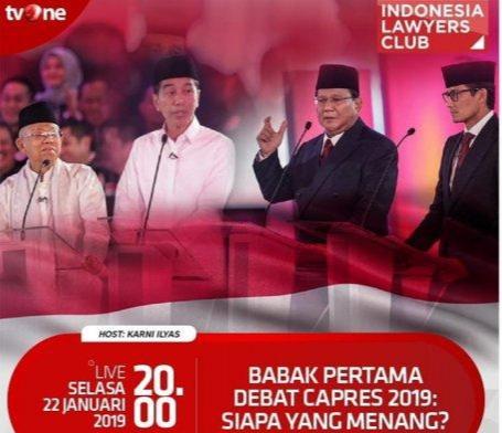 ILC Debat Capres Panas, Fadli Zon Bungkam Jubir TKN Jokowi-KMA