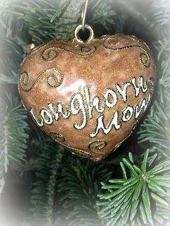 Longhorn Mom ornament