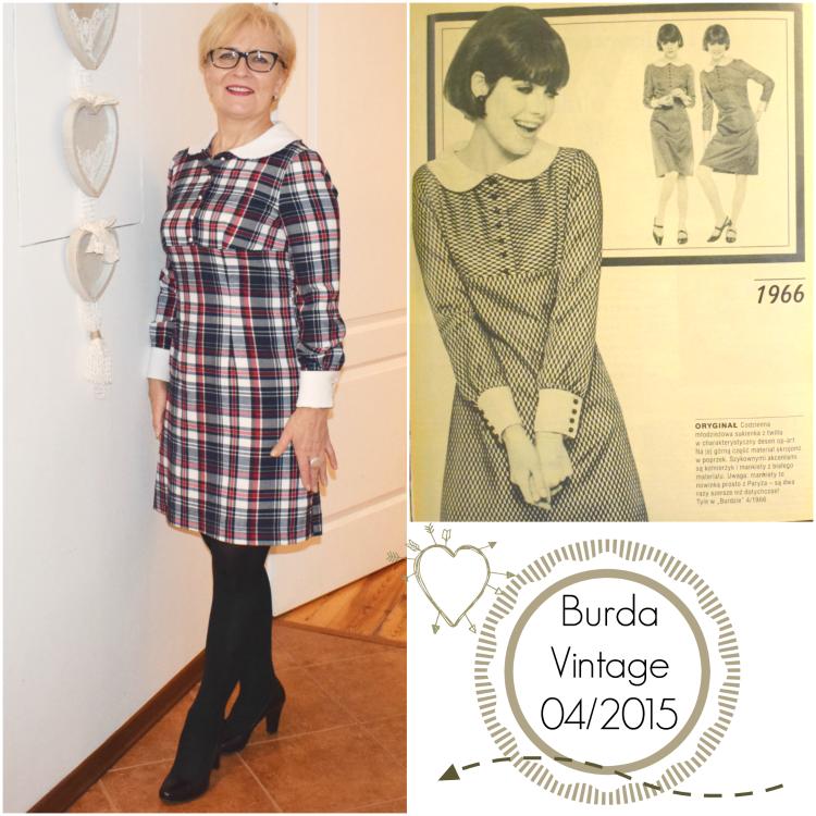 Grzeczna sukienka Patti Dress -   Burda Vintage 04/2015