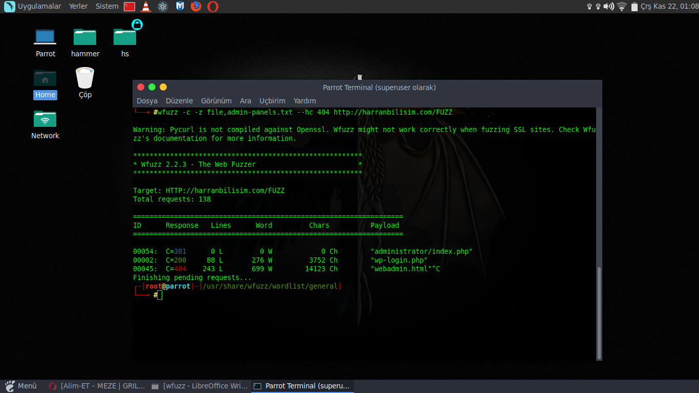Web Application Penetration Testing With WFuzz (Wfuzz İle Web
