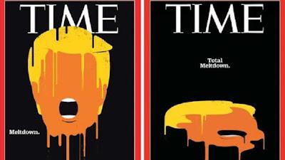 Las dos portadas de la revista Time.