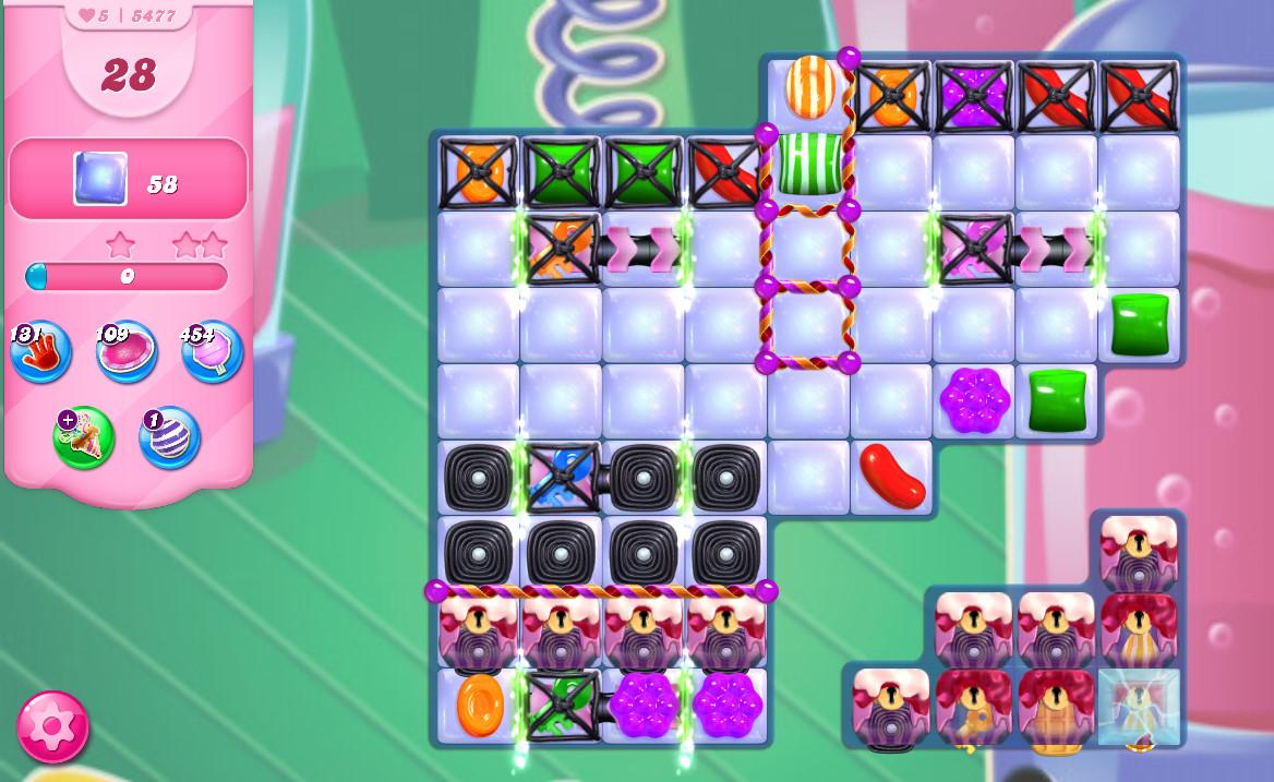 Candy Crush Saga level 5477