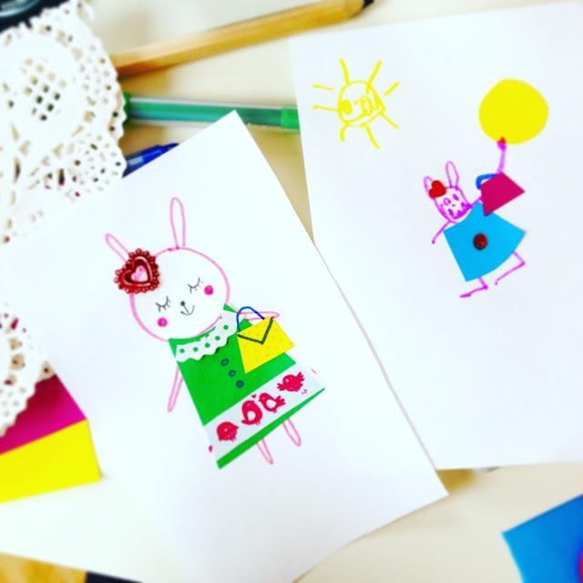 Dress Up Paper Collage | Linzer Lane Blog
