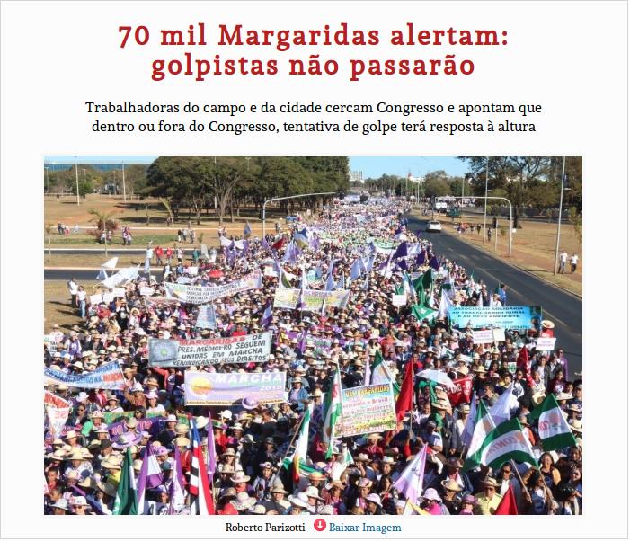 """AS MARGARIDAS, OS """"PANELEIROS"""", OS GOLPISTAS E..."""