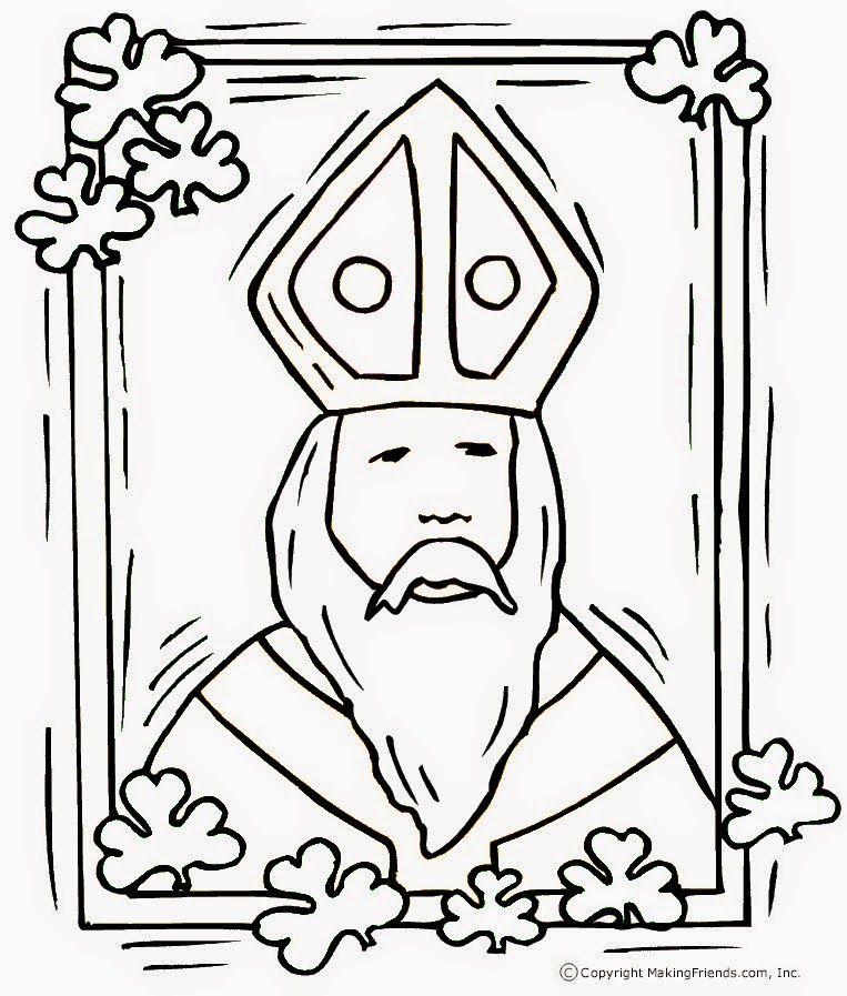 the craft - St Patrick Coloring Page Catholic