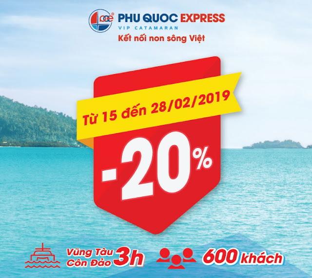 Giảm 20% giá vé nhân dịp khai trương tuyến tàu cao tốc Côn Đảo - Vũng Tàu