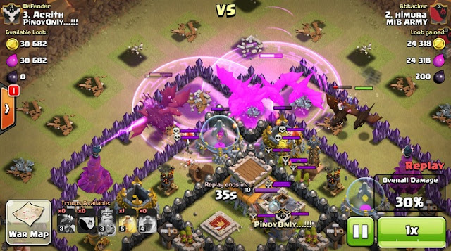 [CLASH OF CLANS] CARA WAR ATTACK TH 8 DRAGLOON GOWIPE FULL HOG