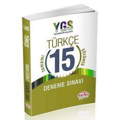 Editör YGS Türkçe Tamamı Çözümlü 15 Deneme Sınavı