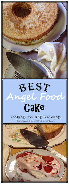 Best Angel Food Cake photo ~ source:tammycookblogsbooks