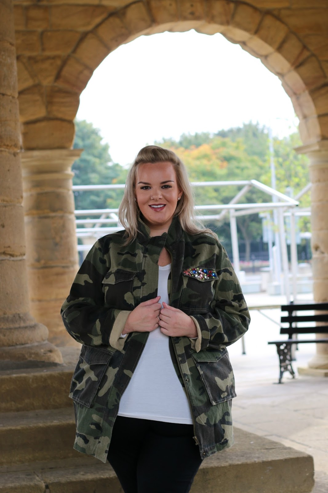 Plus Size Camo Print Jacket from Yours Clothing WhatLauraLoves South Shields
