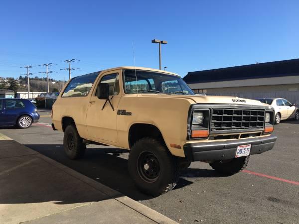 1982 Dodge Ramcharger 4x4