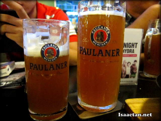 I like this drink, Paulaner, which to me felt way smoother than the others.
