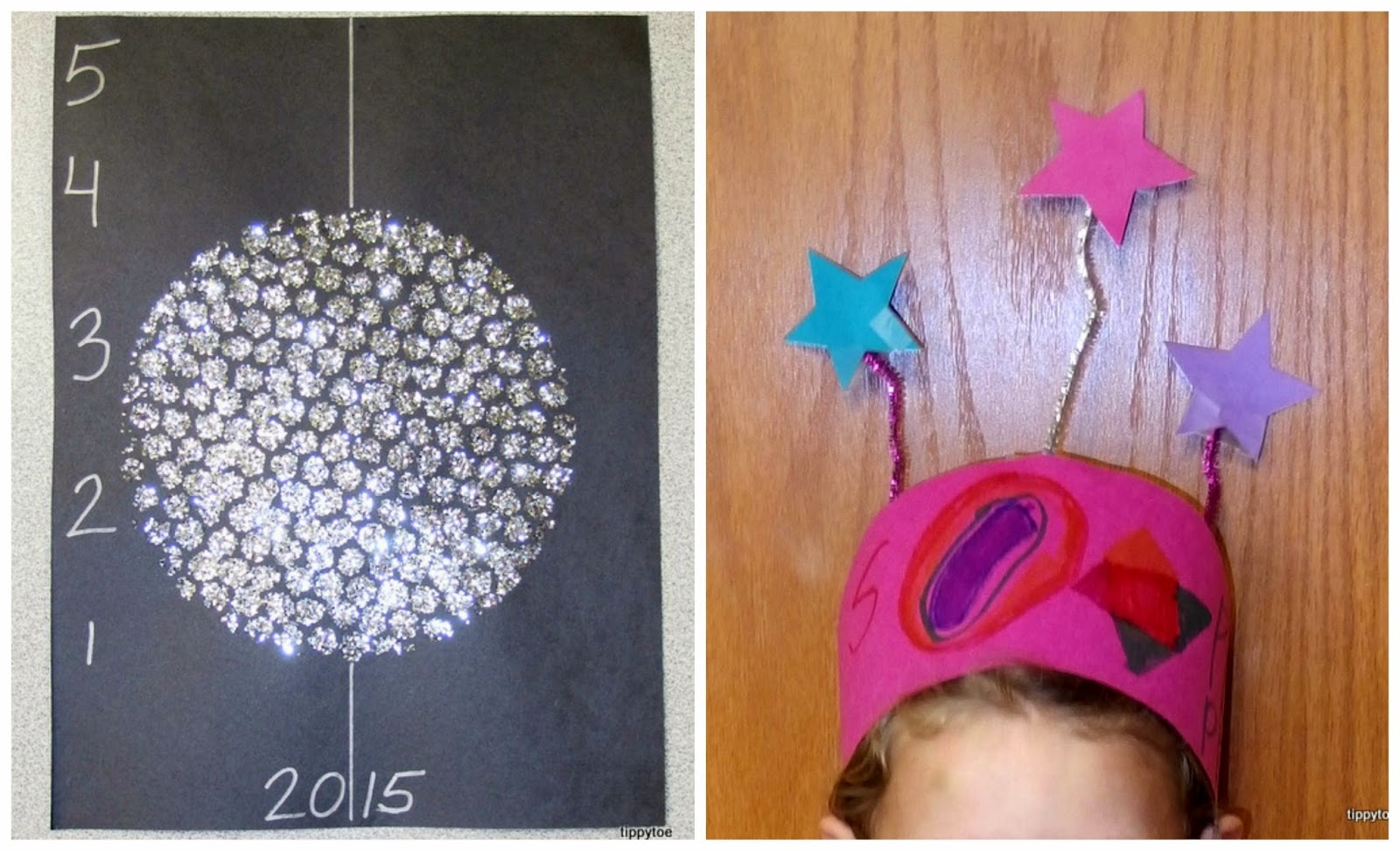 Tippytoe Crafts: New Year's Eve Crafts