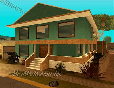 gta sa mod nova casa do cj hd interior estilo gta v corrigida