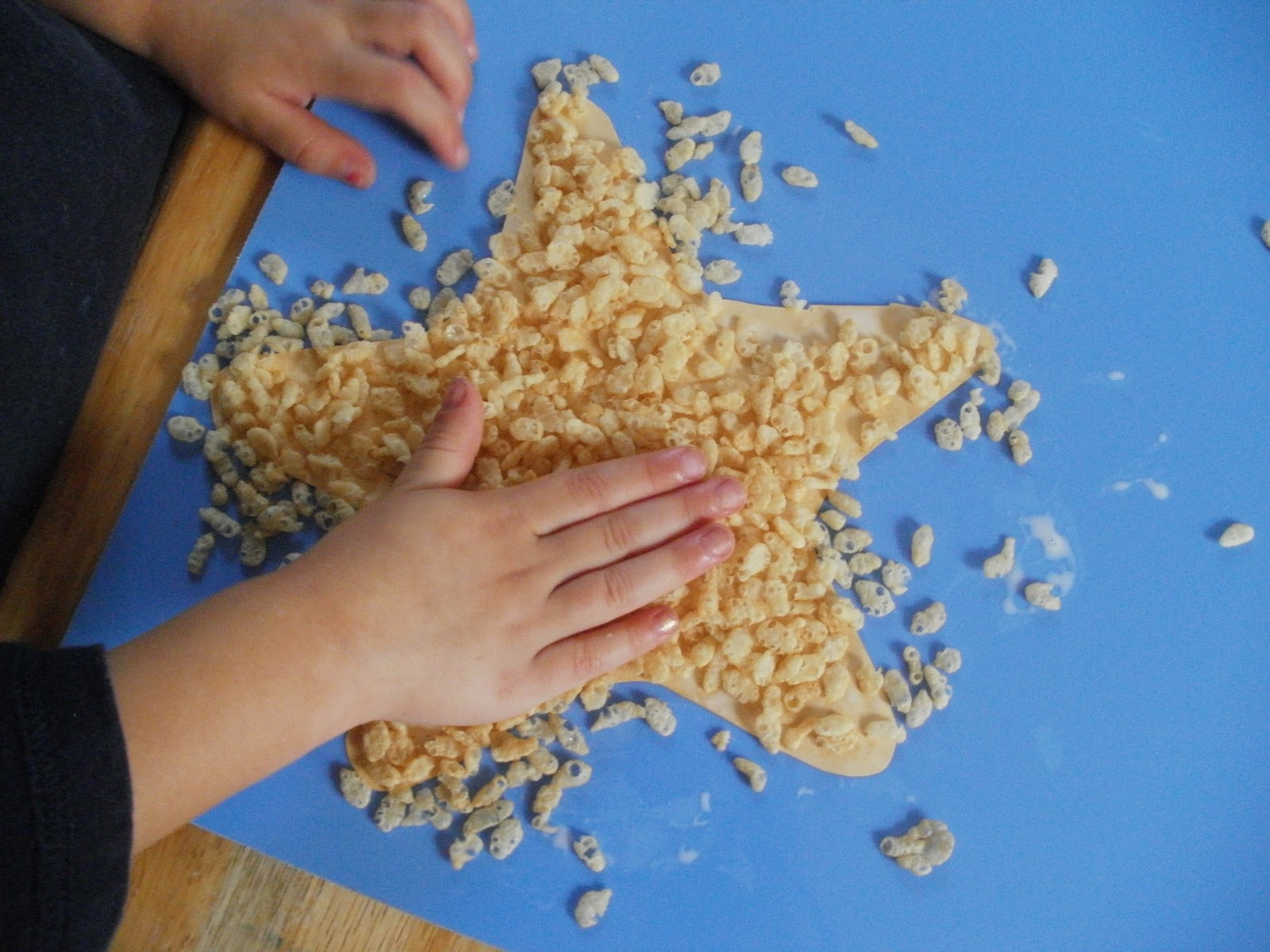 Little Stars Learning Starfish Texture Craft W Template