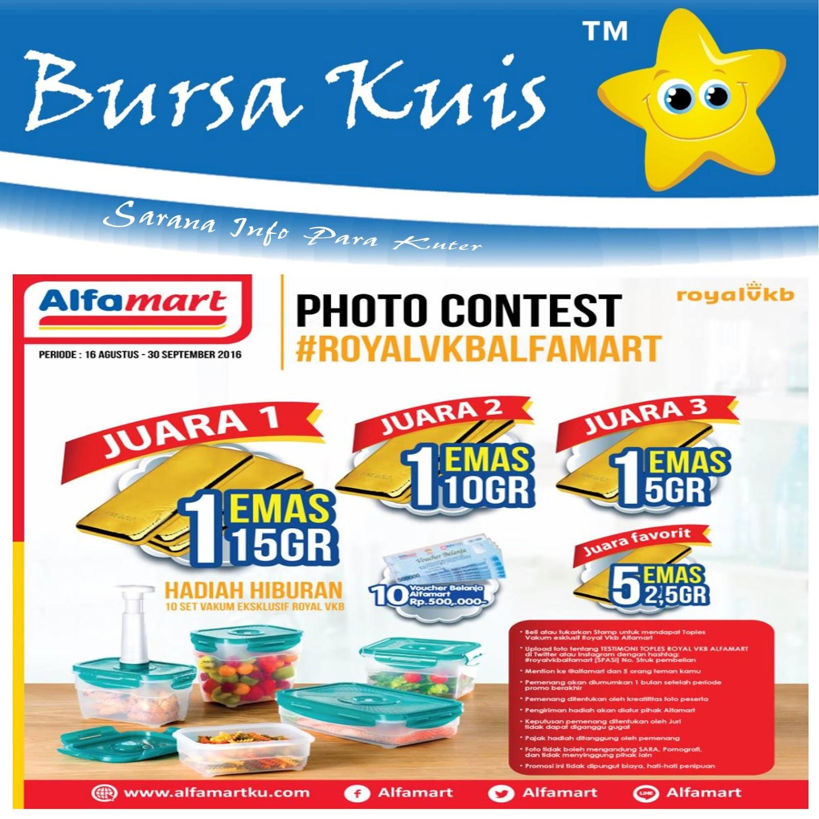 Kontes Foto Royal Vkb Alfamart Berhadiah Emas Batangan Bursa