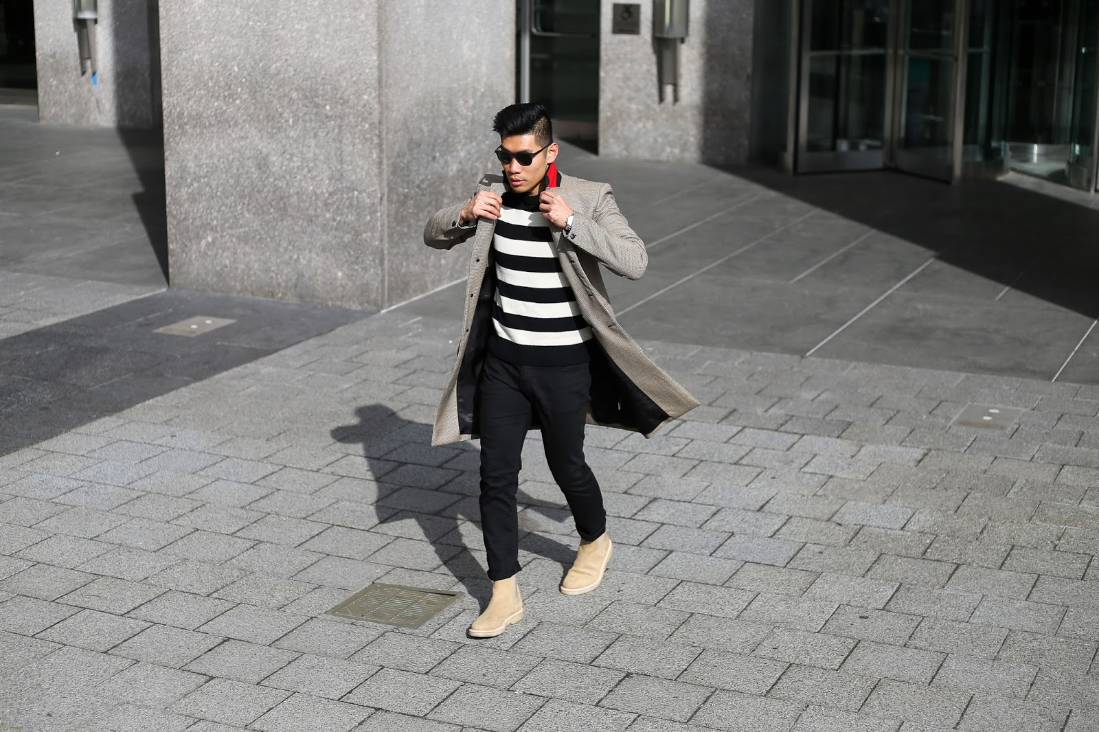 Leo Chan Rag Bone Shane Striped Wool Sweater Common Projects