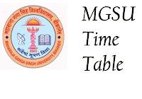 महाराजा गंगा सिंह यूनिवर्सिटी टाइम टेबल २०१८