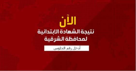 نتيجة الشهادة الابتدائية لمحافظة الشرقية اخر العام 2017 ,نتيجة الصف السادس الابتدائى جميع ادارات محافظة الشرقية, الترم الثاني2017