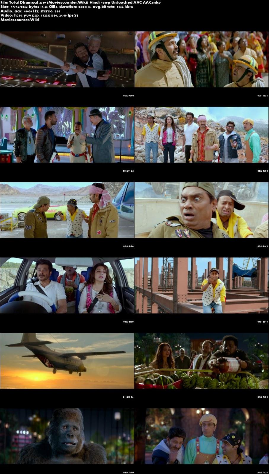 Screen Shots Total Dhamaal 2019 Hindi HD 1080p