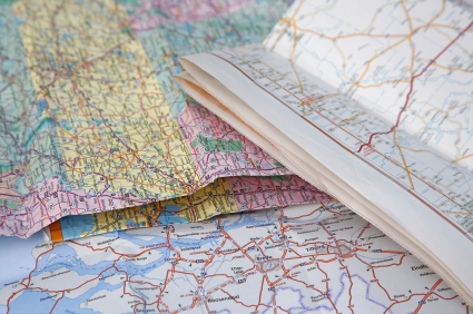 Reading Maps for a Road Trip