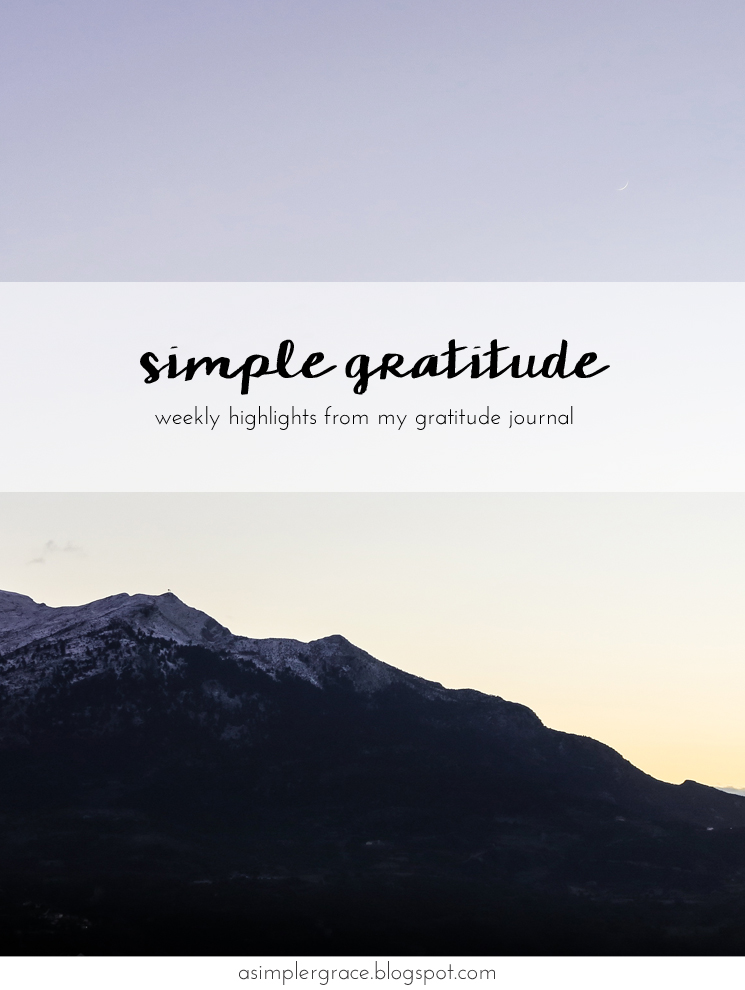 Sharing my #gratefulheart this first Monday of the #newyear - Simple Gratitude | 58 - A Simpler Grace