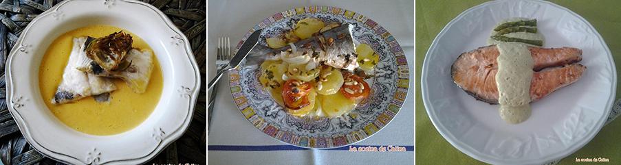 dorada al horno con crema de calabaza y chip de alcachofas