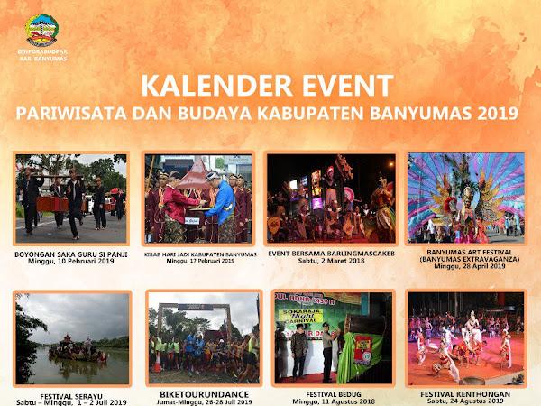 Kalender Event Pariwisata dan Budaya Kabupaten Banyumas 2019