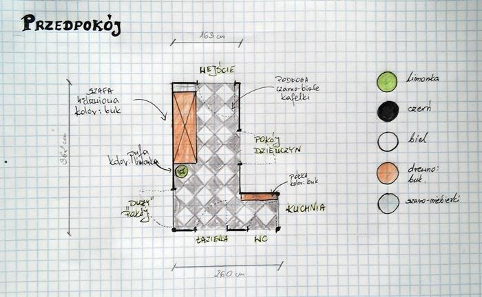 Wyzwanie wykończ dom z House Loves | plan przedpokoju | Level up! studio