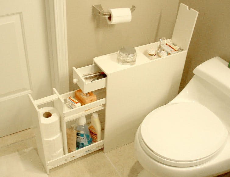 DIY Bathroom, Small Bathroom Storage, Small Bathroom Ideas, Bathroom Ideas,  Bathroom Storage