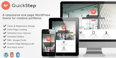 QuickStep v2.1.0 Responsive One Page Porfolio Theme