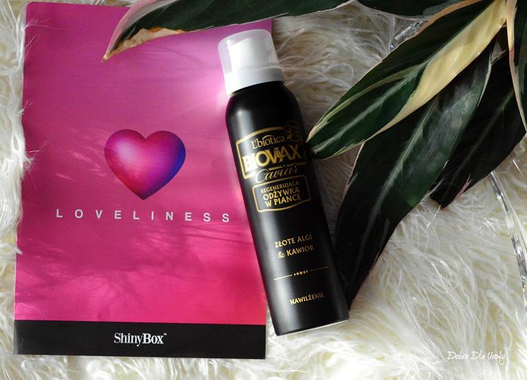 Loveliness by ShinyBox ♥ Lutowe pudełko Shiny BIOVAX Odżywka do włosów Złote Algi & Kawior