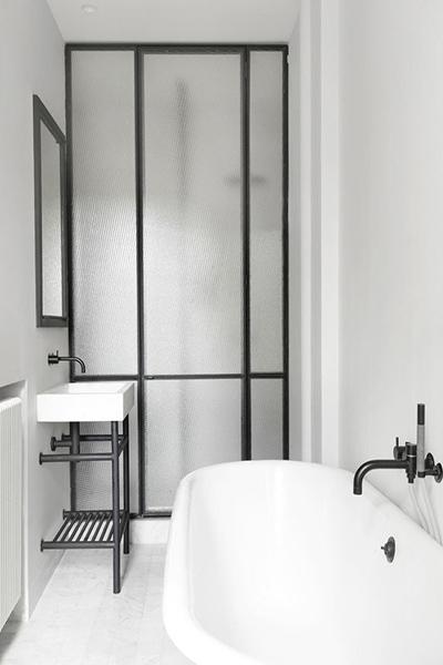 cloison en verre salle de bain