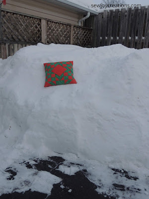 snowbank with cushion