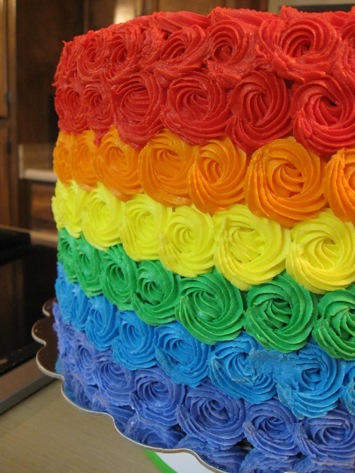Baking Journey Somewhere Over The Rainbow Cake