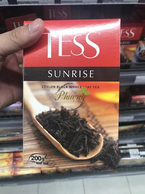 Trà đen Nga nhãn hiệu TESS SUNRISE túi 200gr