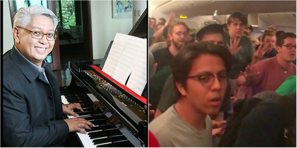 "US men's choir sing Ryan Cayabyab's ""Da Coconut Nut"""