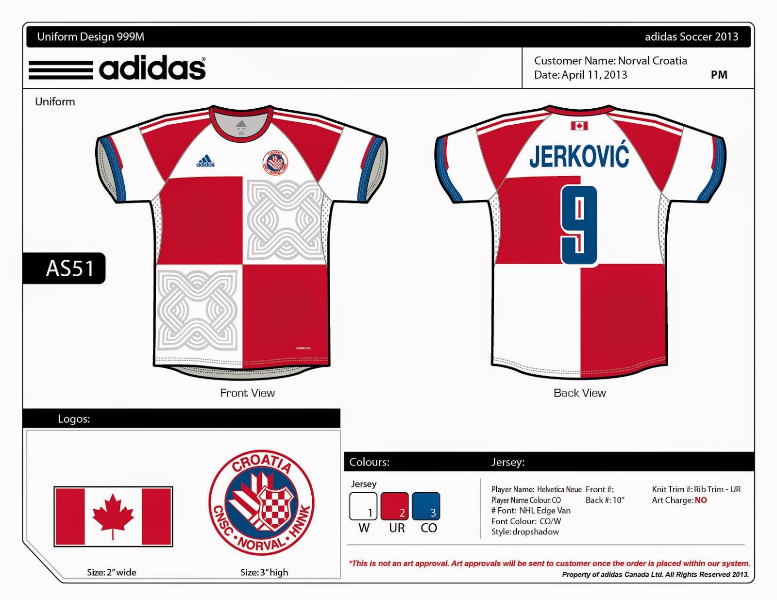 6411aa03a332 Design Your Own Football Shirt Adidas - BCD Tofu House