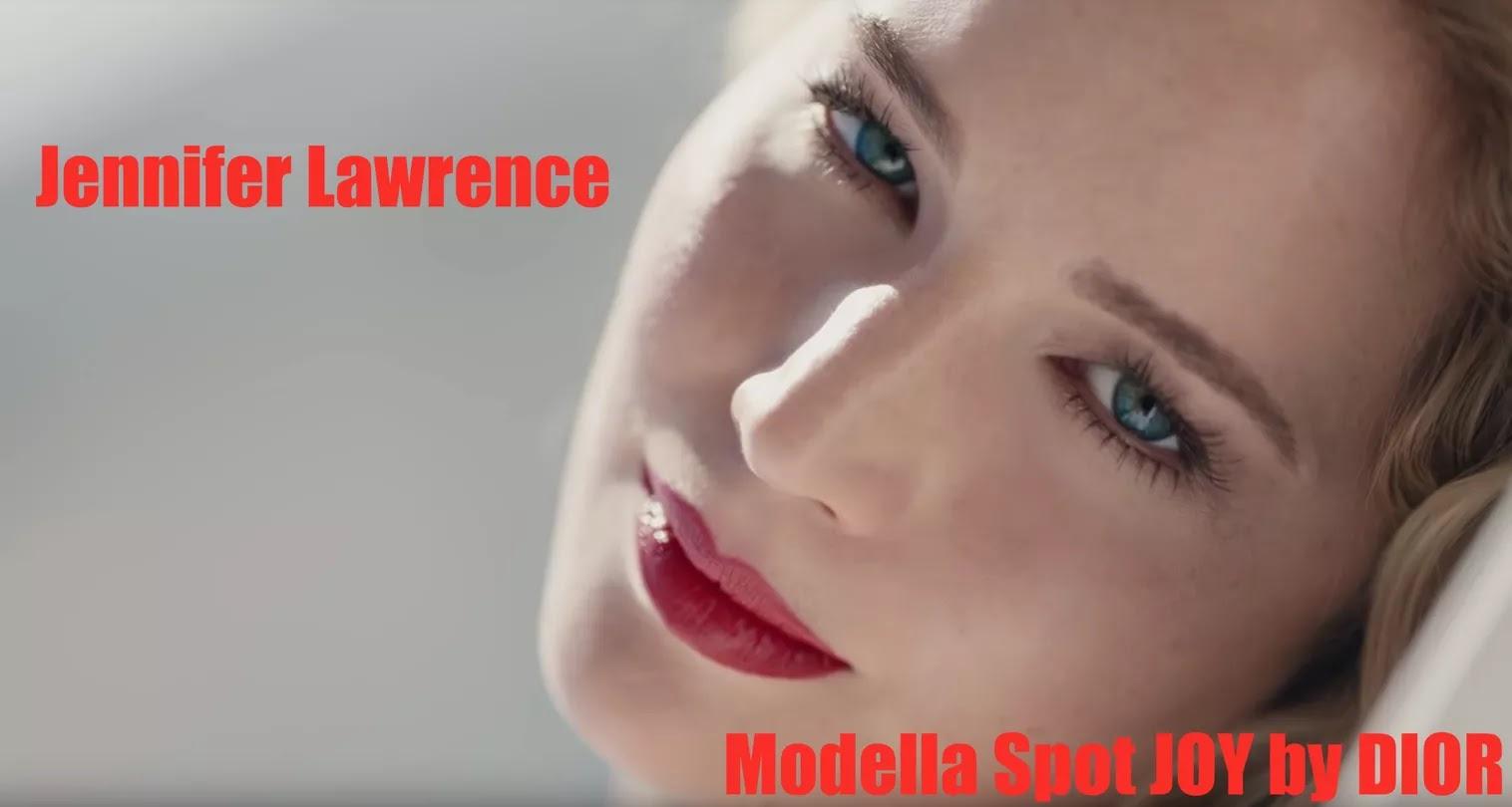 jennifer lawrence, modella spot dior joy 2018