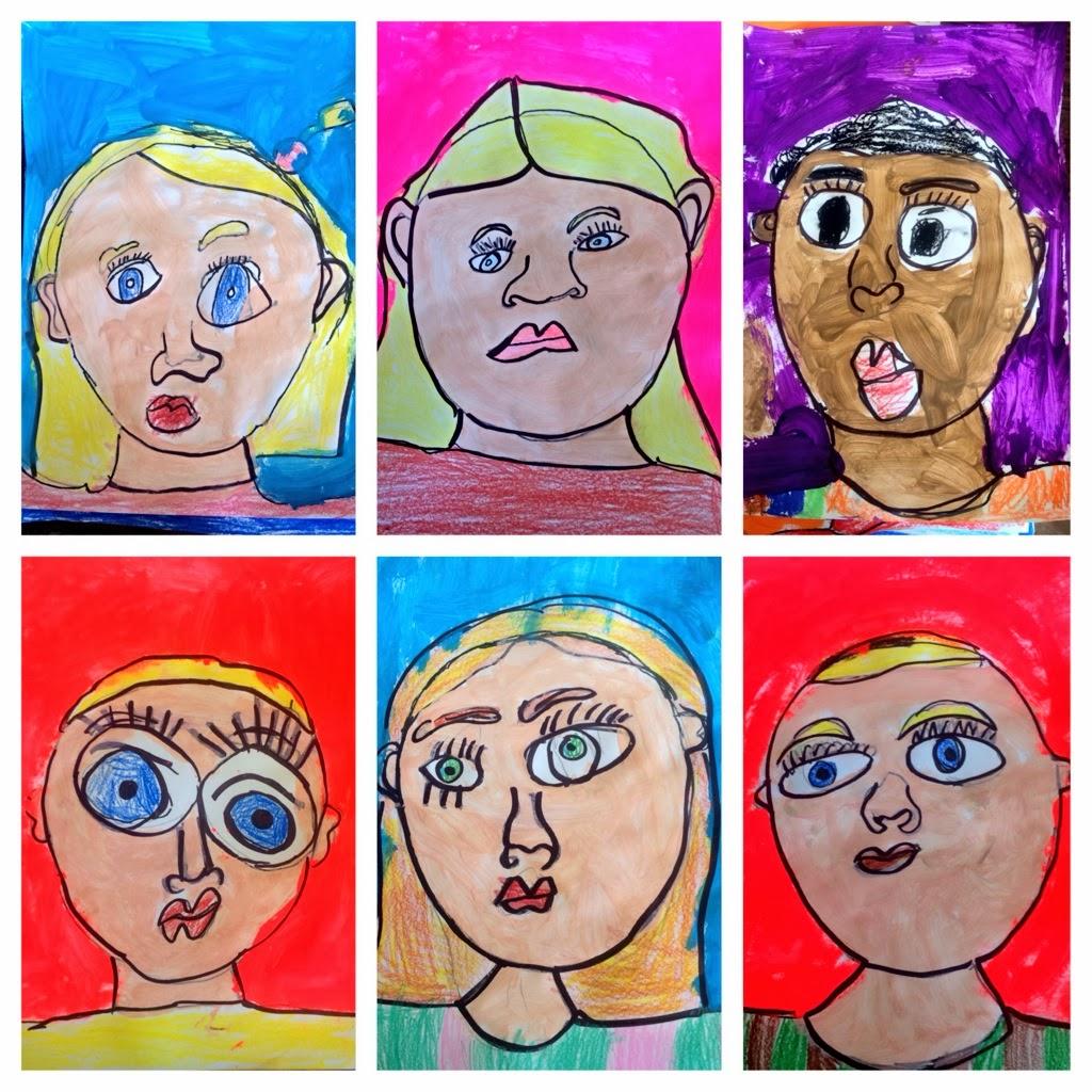 Art Eat Tie Dye Repeat Kindergarten Self Portraits