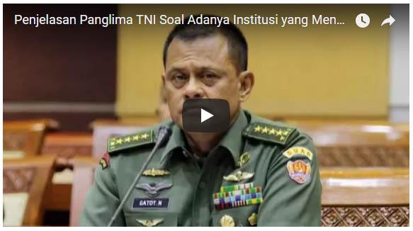 Panglima TNI: Polisi tidak boleh memiliki senjata penembak Tank, Saya serbu kalau ada