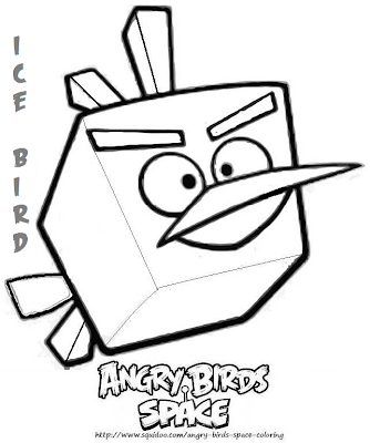 Aninimal Book: Yellow Coloring Pages: Angry bird Space Coloring Pages