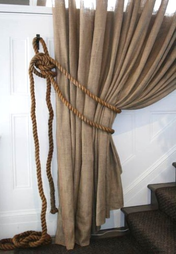 rope curtain tie