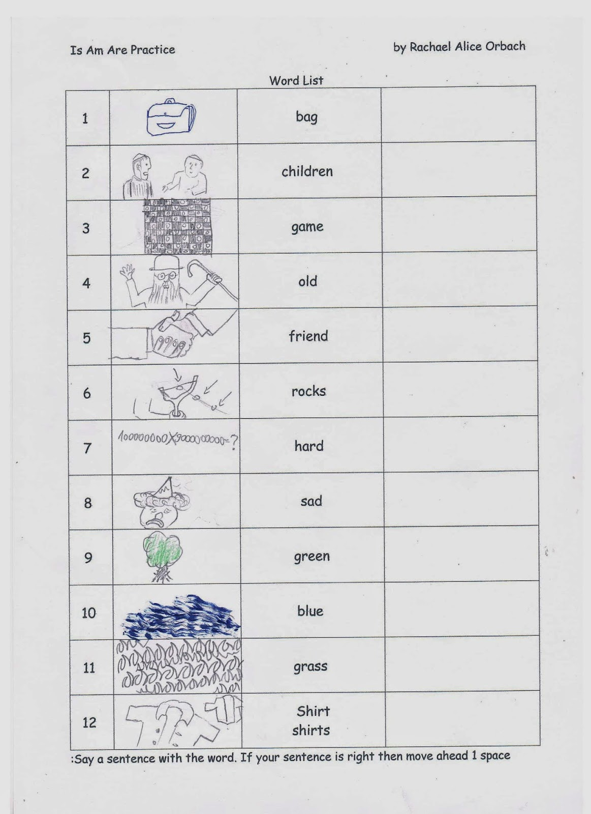 Rachael S English Worksheets Is Am Are Practice For Beginners