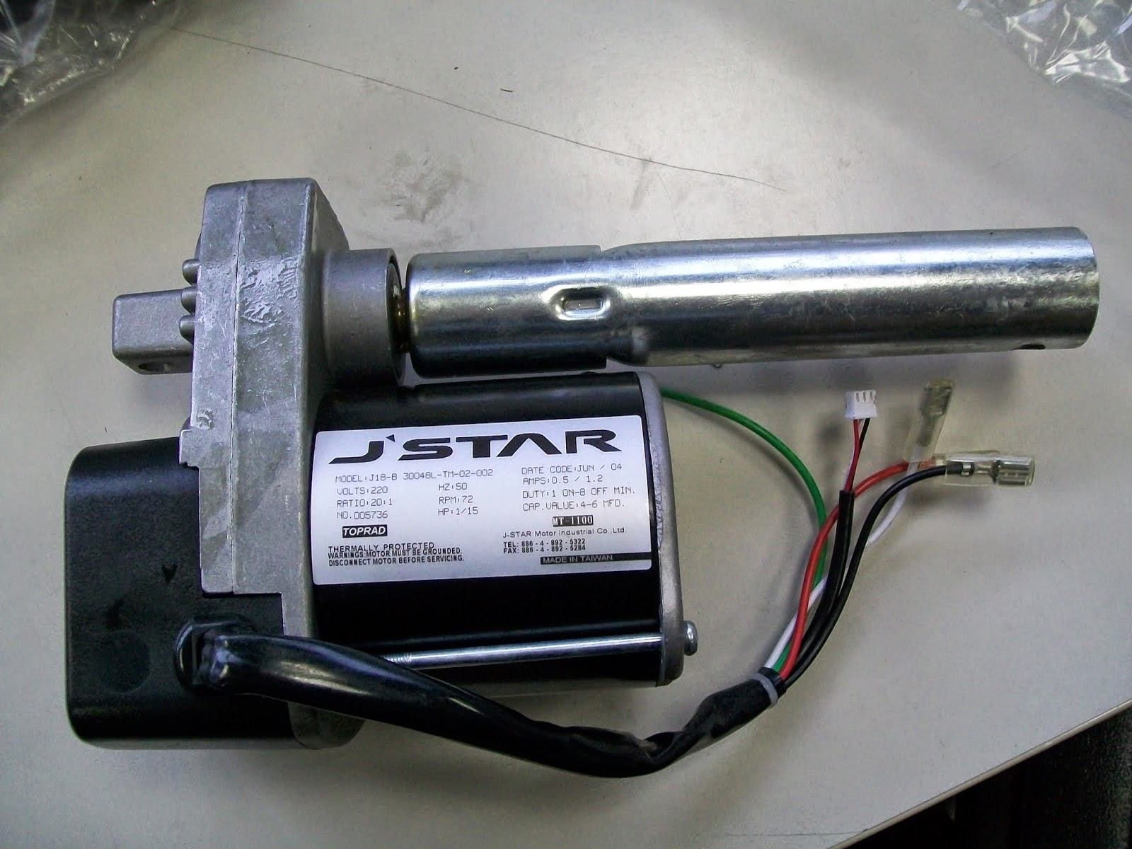 Treadmill incline motor for E6 error